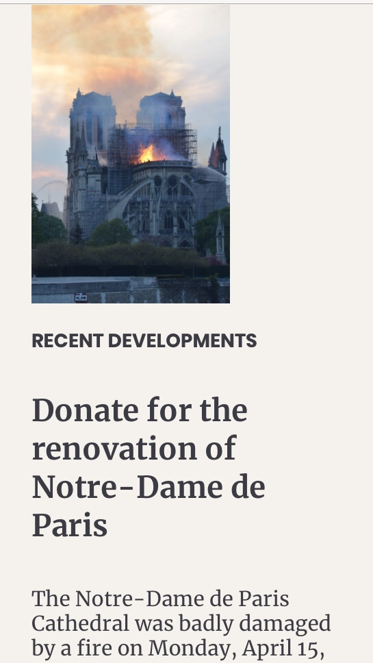 Screenshot from www.notredamedeparis.fr